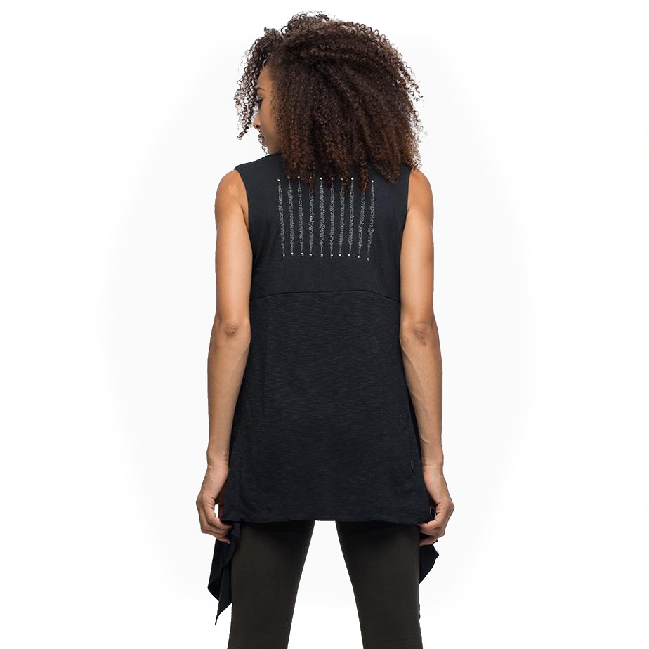 """Asli"" sleeveless vest, Black"