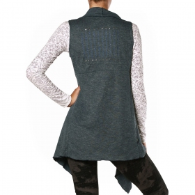"""Asli"" sleeveless vest, Greyigh blue"