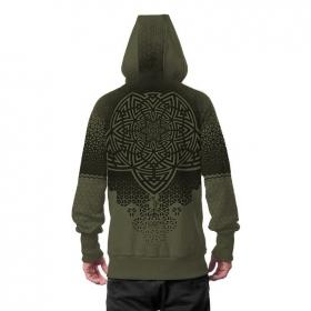 """Mark"" zipped hoodie, Khaki green"