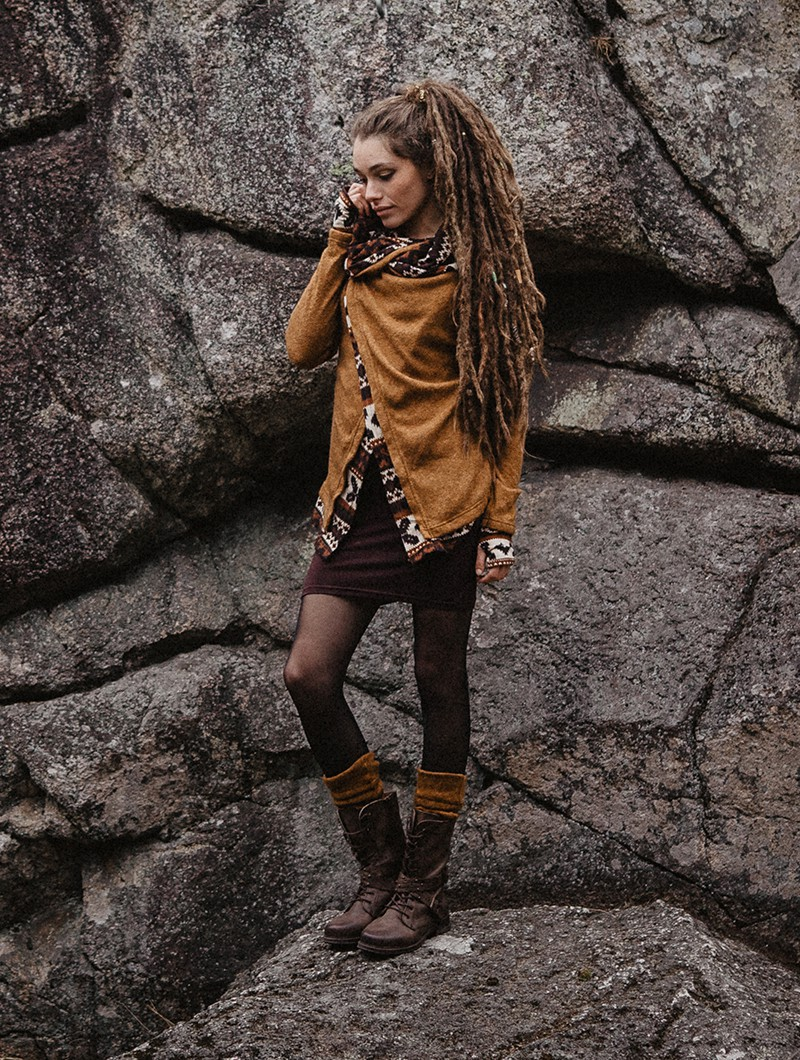 """Azzyö"" skirt, Brown"