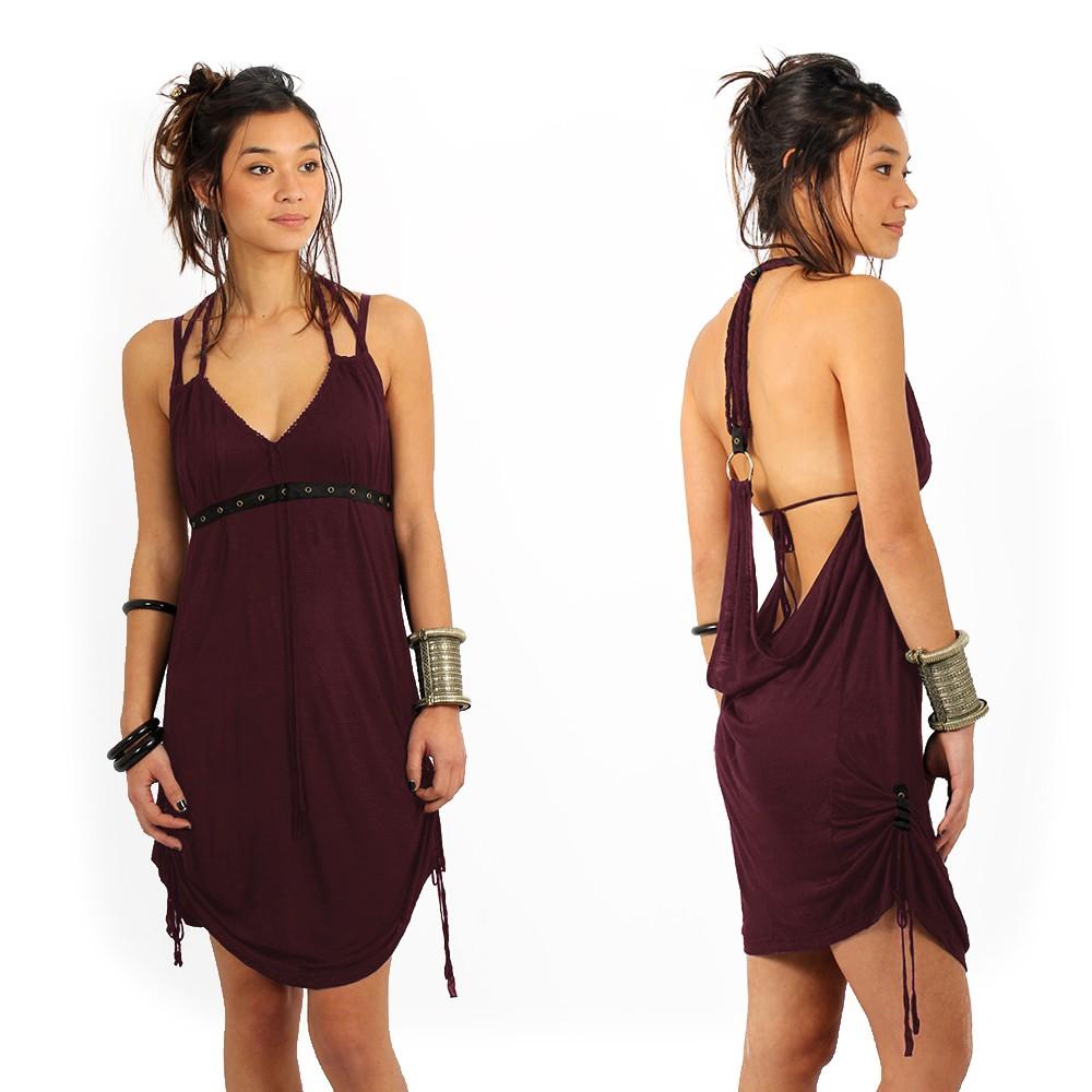 """Greek"" dress, Plum"