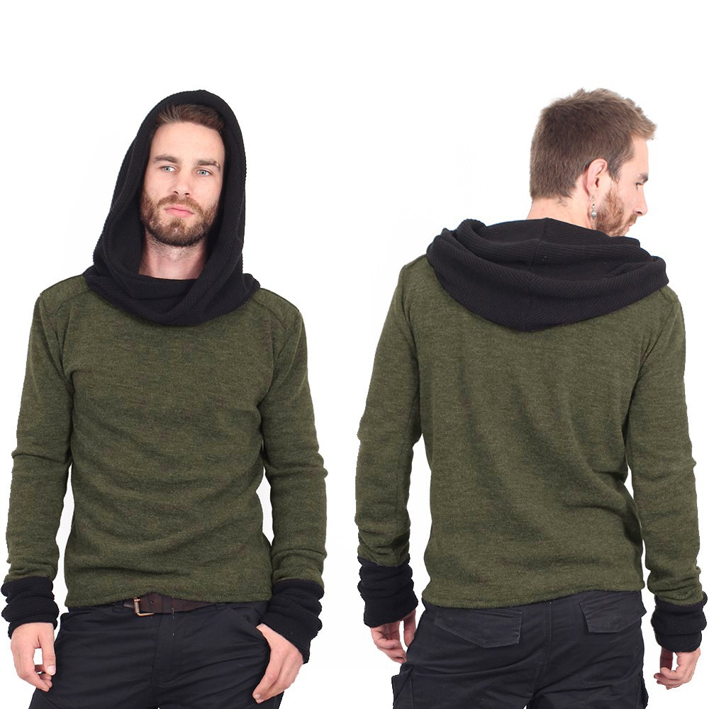 """Nemöo"" sweater, Khaki green"