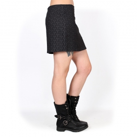 """Ishtar Kikko"" skirt, Black with prints"