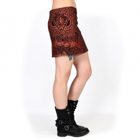 """Ishtar Africa"" skirt, Black with copper prints"