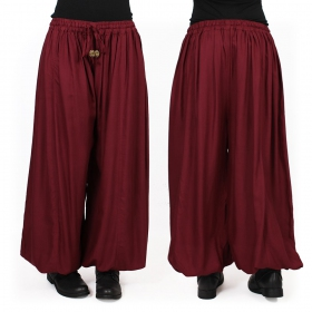 """Satyam"" Gender neutral harem pants, Wine"