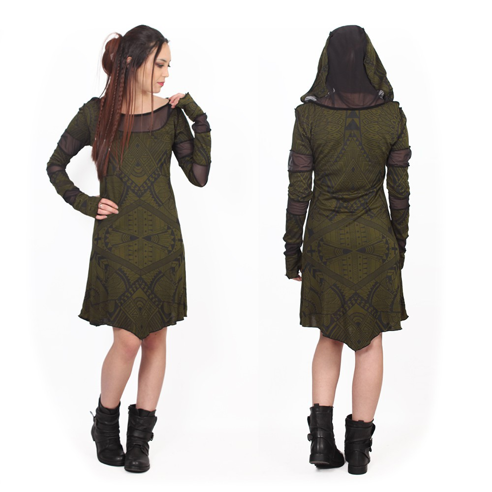 """Inanna Africa"" dress, Khaki green"
