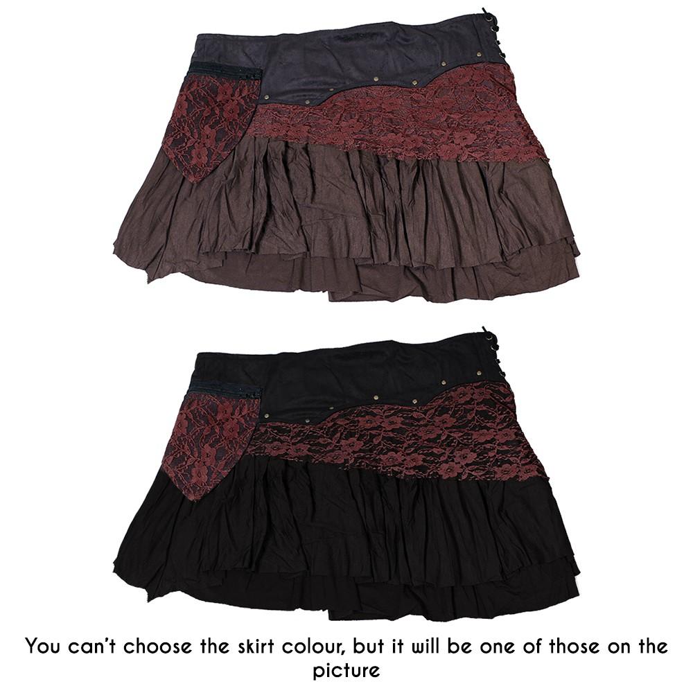 """""""Chimey"""" skirt, Plain black brown"""