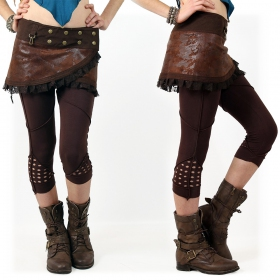 """""""Aswad"""" short leggings, brown"""