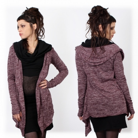 """Nyxx"" semi transparent cardigan, Wine"