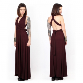"""Wakiza"" dress, Auburn brown"