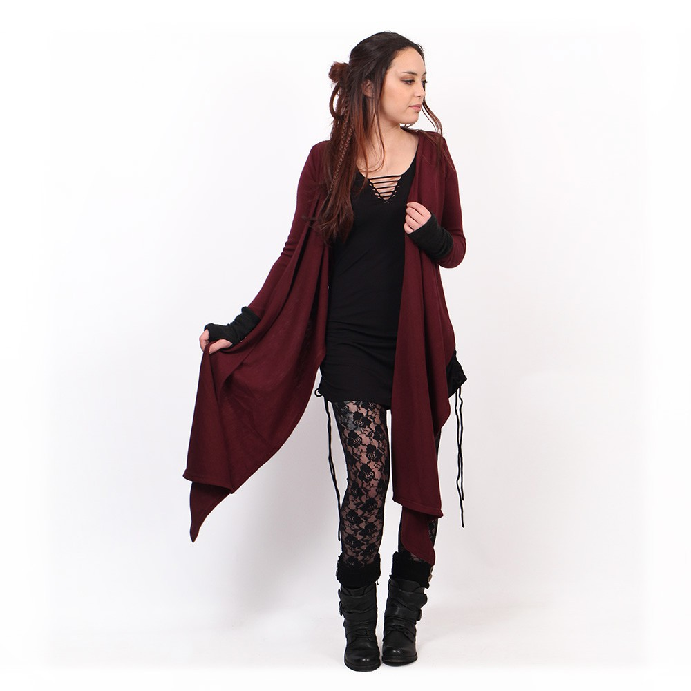 """Aeriz"" shawl, Wine"
