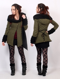 """Azmäe"" lined jacket, Khaki and black"