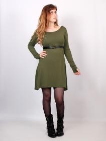 """Ysïaa"" long sleeve dress, Khaki green"