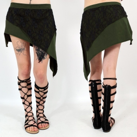 """Saravana"" skirt, Khaki and black"
