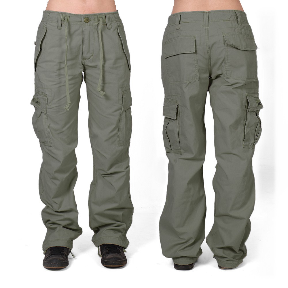 Molecule gender neutral baggy cargo pants, Olive green