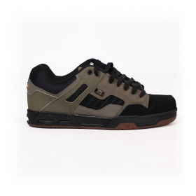 DVS Enduro Heir, Khaki green leather with black details