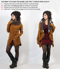 """Adrika"" cardigan, Rusty and brown"