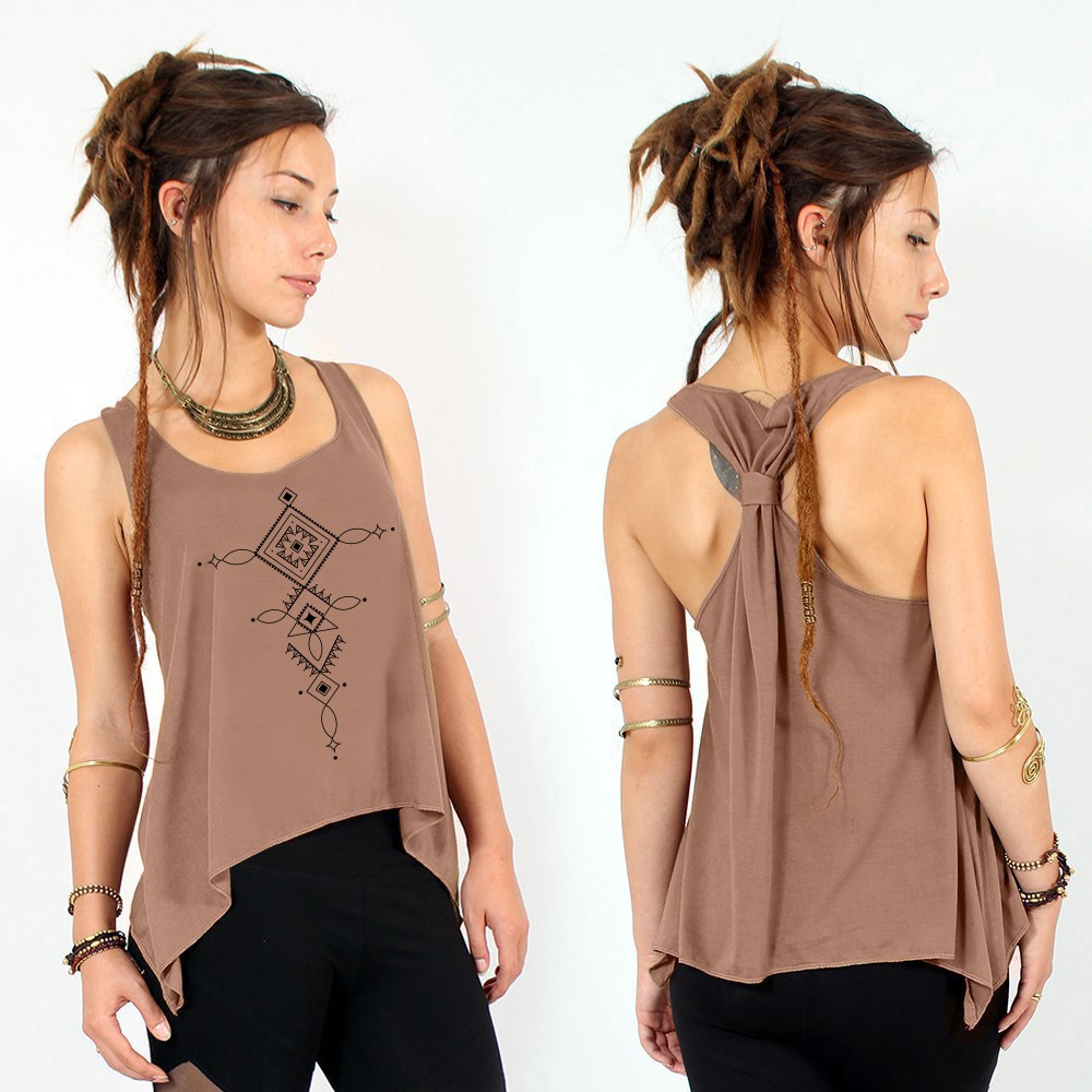 """Luunja"" knotted tank top - Various colors available"