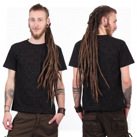 """Amun Shipibo"" short sleeves t-shirt, Black"