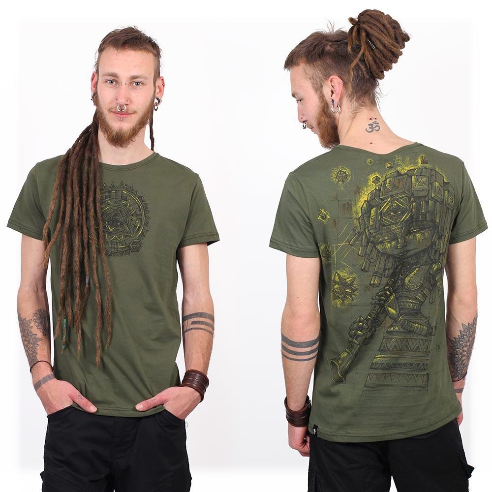 """Cubina"" t-shirt, Mottled khaki"