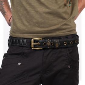 """""""Equilibrium"""" belt, Black faux leather"""