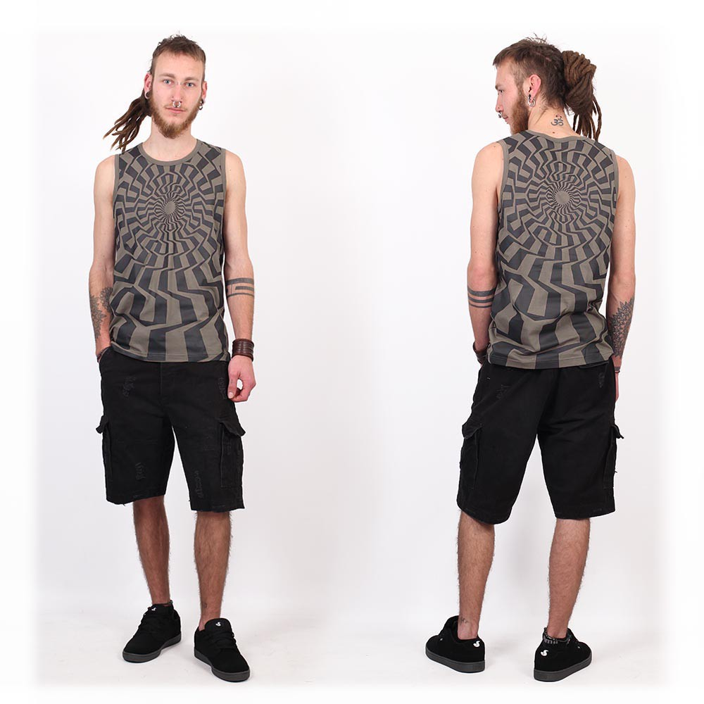 """Vortex"" tank top, Grey"