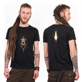 """Scarab spirit"" t-shirt, Black and gold"