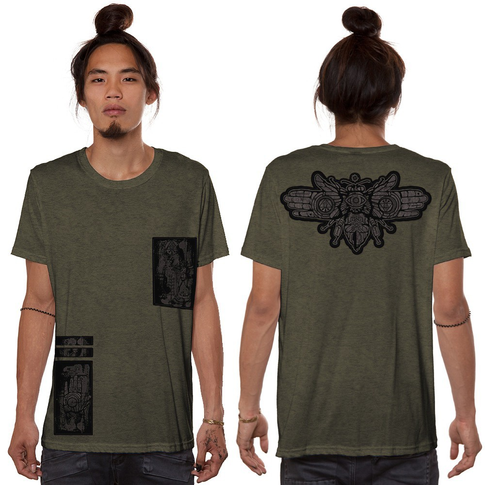 """Amarth"" t-shirt, Mottled Army green"