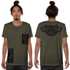 """Amarth"" t-shirt, Mottled Khaki green"