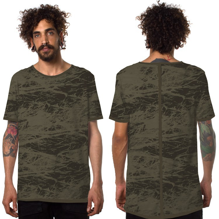 """Treeping"" t-shirt, Khaki green and black"