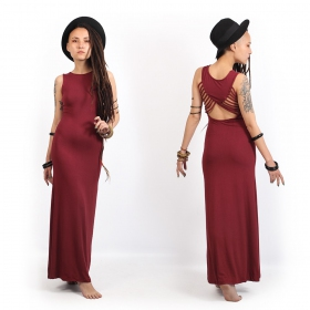 """Nayantara"" long dress, Wine"