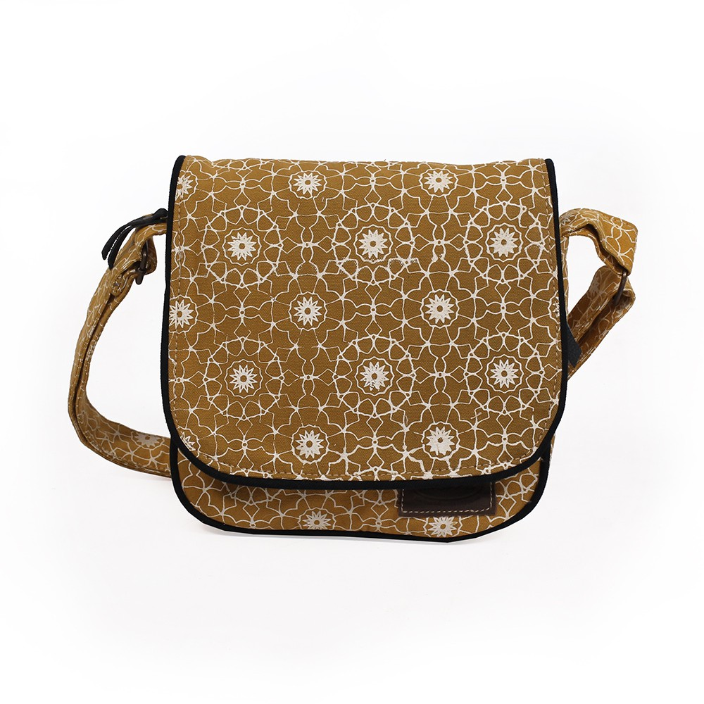 """Kawena"" shoulder bag, Cotton with patterns"