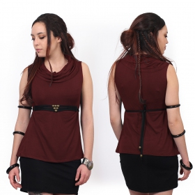 """Tsaïlo"" sleeveless top, Wine"