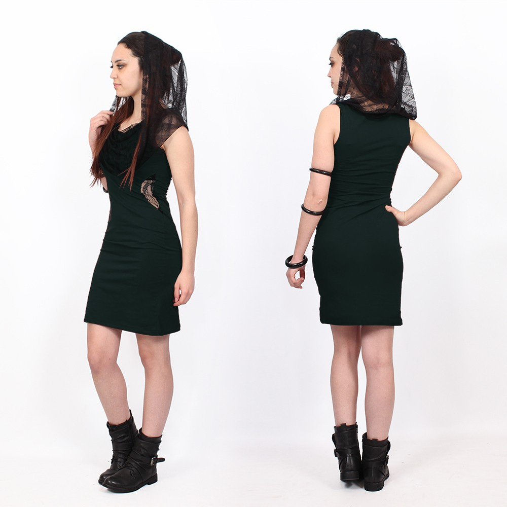 """Abbyss"" sleeveless dress, Peacock teal"