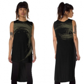 """Akasha"" asymmetric t-shirt, Black"