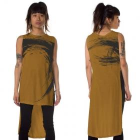 """Akasha"" asymmetric t-shirt, Mustard"