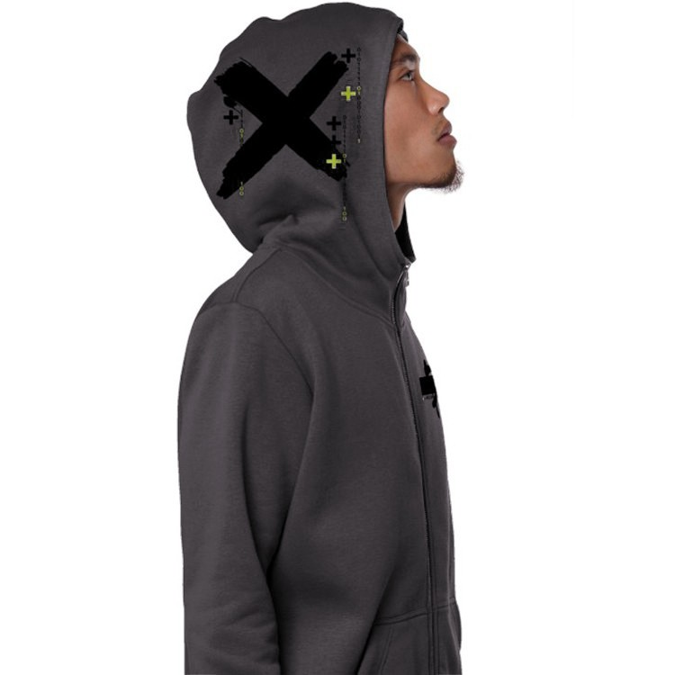 """Switcher"" zipped hoodie, Dark grey"