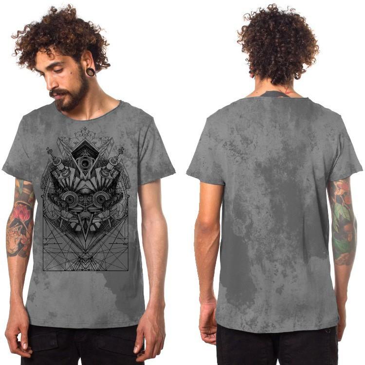 """""""Beaker"""" t-shirt, Mottled grey"""