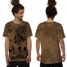 """Witch"" t-shirt, Mottled orange"