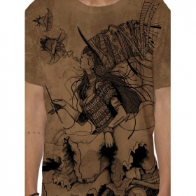 """Witch"" t-shirt, Mottled orange"