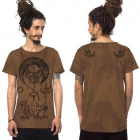 """Taliz"" t-shirt, Mottled moka"