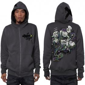 """Switcher"" zipped hoodie, Dark grey"