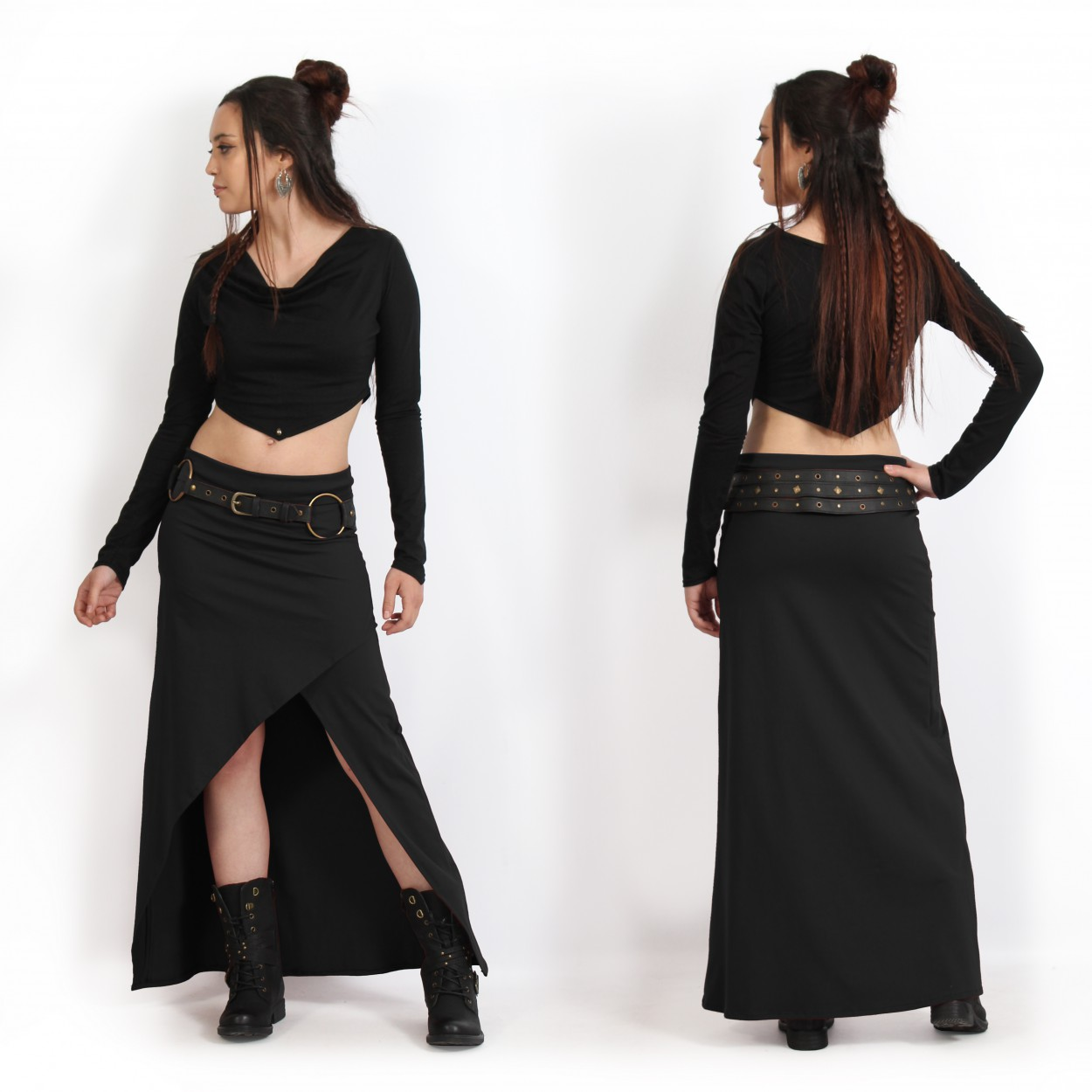 """Naïade"" skirt, Black"