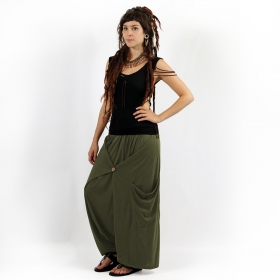 "Gender neutral - ""Anju"" harem pants, Khaki green"