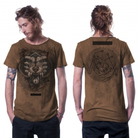 """Serberus"" t-shirt, Mottled orange"