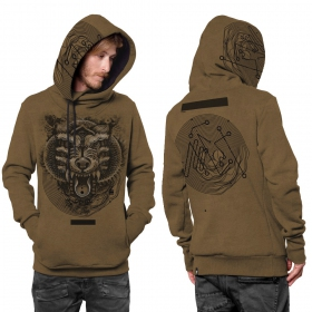 """Serberus"" hoodie, Mottled orange"