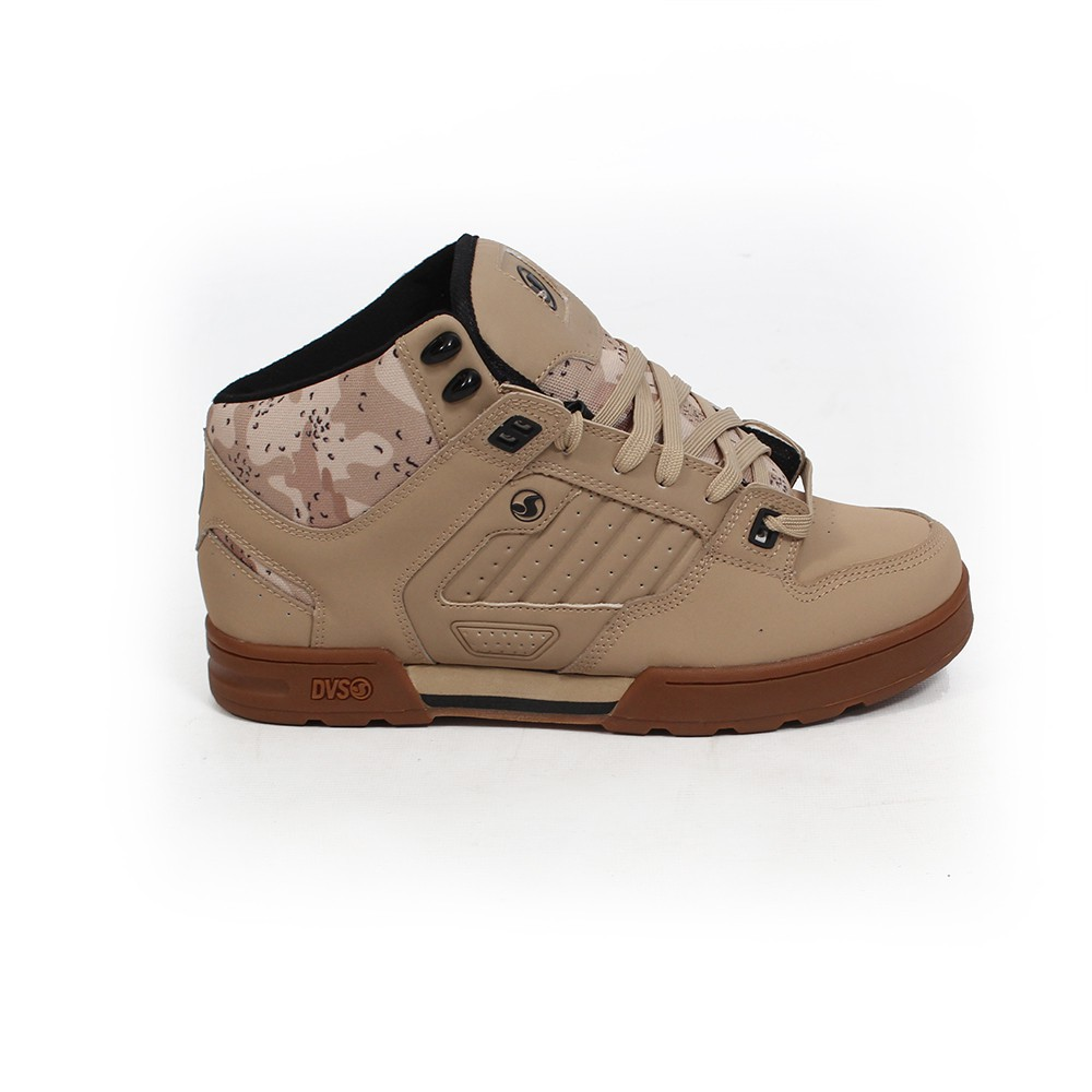 DVS Militia Boots, Camel nubuck leather with camo details