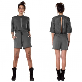 """Era"" playsuit, Dark grey"