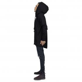 """Altiplano"" unisex thin hoodie, Black"