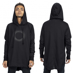 """Altiplano"" Gender neutral thin hoodie, Black"